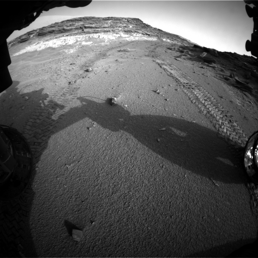 Nasa's Mars rover Curiosity acquired this image using its Front Hazard Avoidance Camera (Front Hazcam) on Sol 1044, at drive 2200, site number 48
