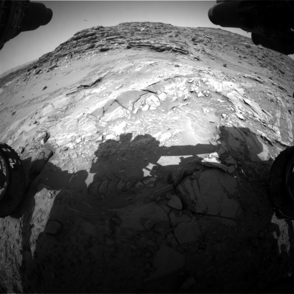 Nasa's Mars rover Curiosity acquired this image using its Front Hazard Avoidance Camera (Front Hazcam) on Sol 1044, at drive 2122, site number 48