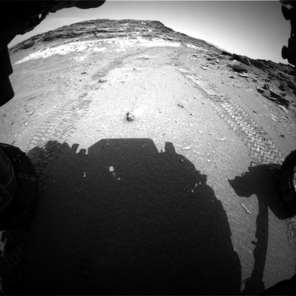 Nasa's Mars rover Curiosity acquired this image using its Front Hazard Avoidance Camera (Front Hazcam) on Sol 1045, at drive 2200, site number 48