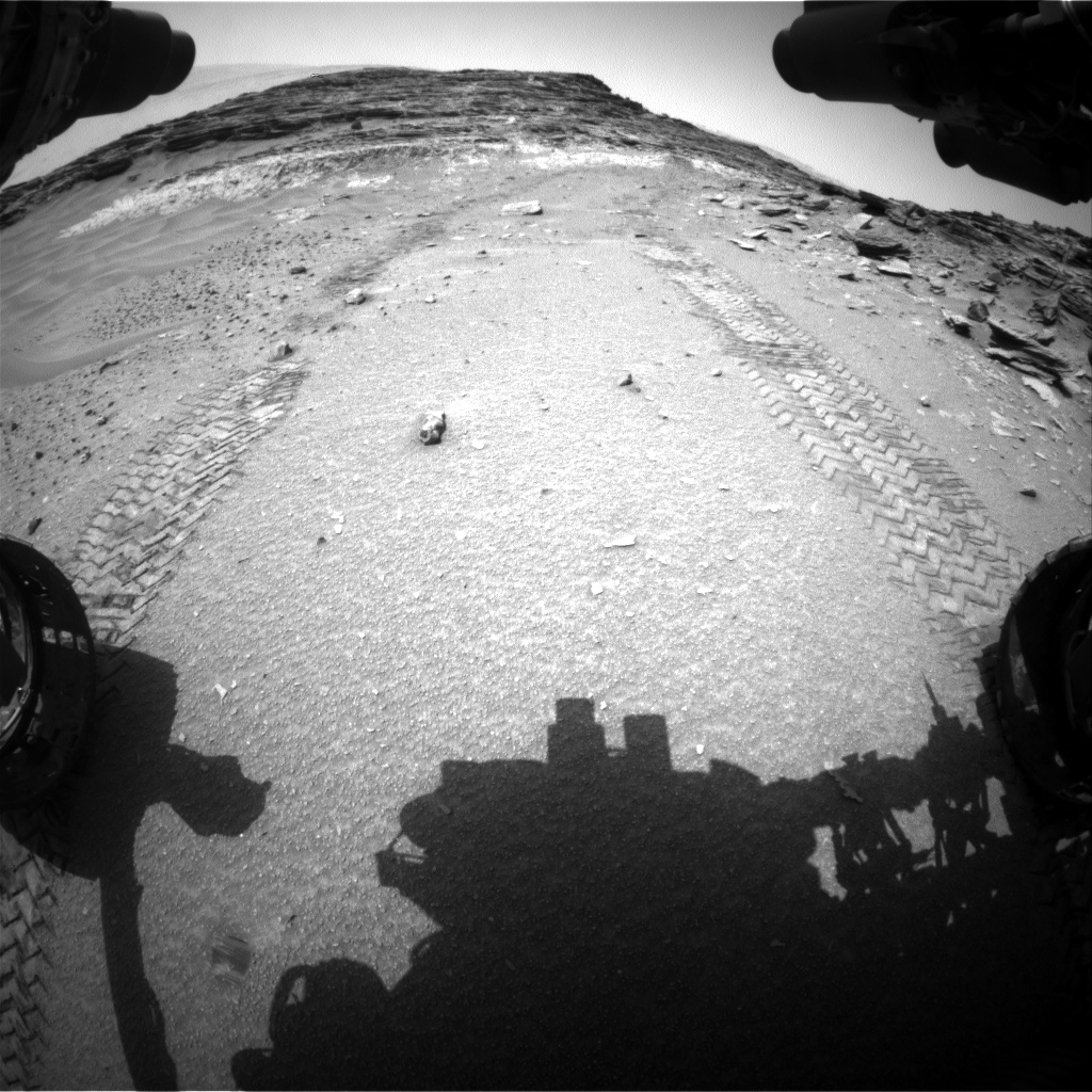 Nasa's Mars rover Curiosity acquired this image using its Front Hazard Avoidance Camera (Front Hazcam) on Sol 1046, at drive 2200, site number 48