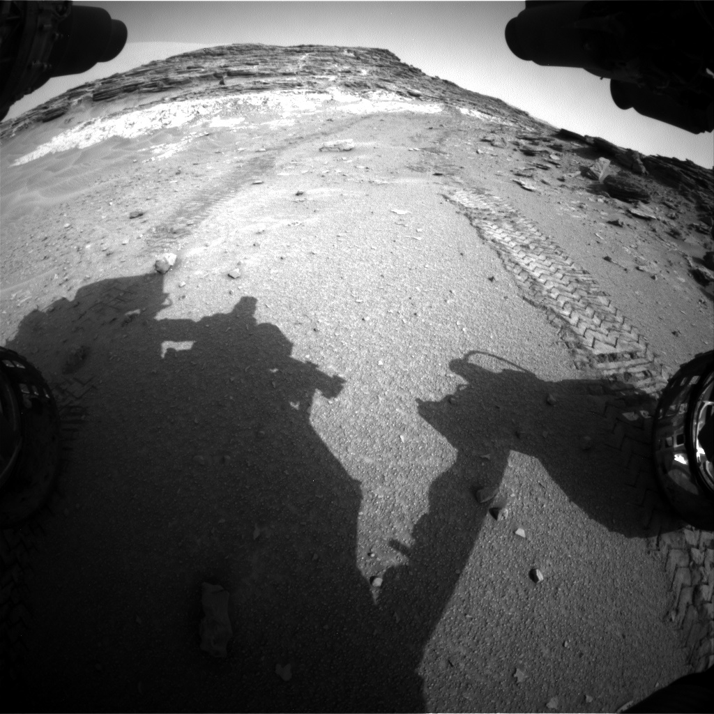 Nasa's Mars rover Curiosity acquired this image using its Front Hazard Avoidance Camera (Front Hazcam) on Sol 1046, at drive 2224, site number 48