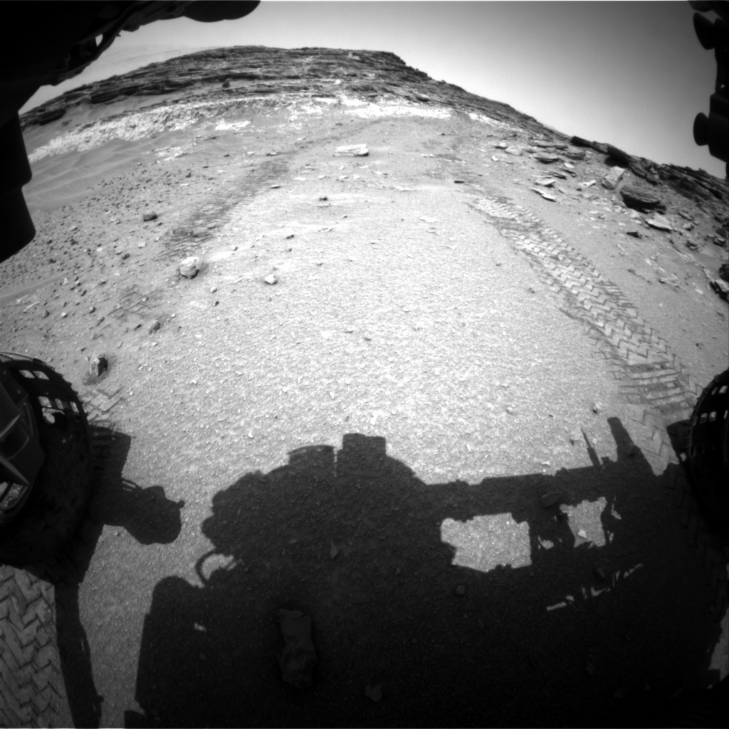 NASA's Mars rover Curiosity acquired this image using its Front Hazard Avoidance Cameras (Front Hazcams) on Sol 1047
