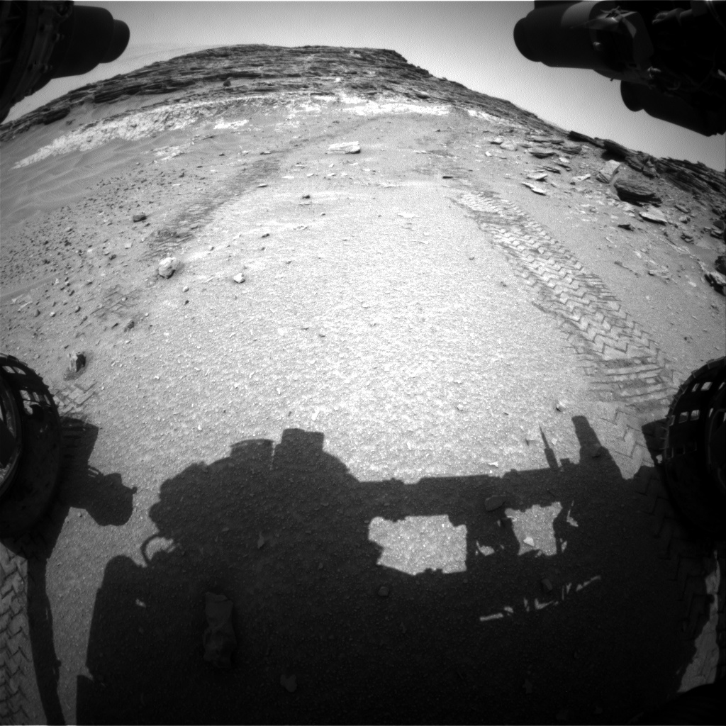 Nasa's Mars rover Curiosity acquired this image using its Front Hazard Avoidance Camera (Front Hazcam) on Sol 1047, at drive 2224, site number 48
