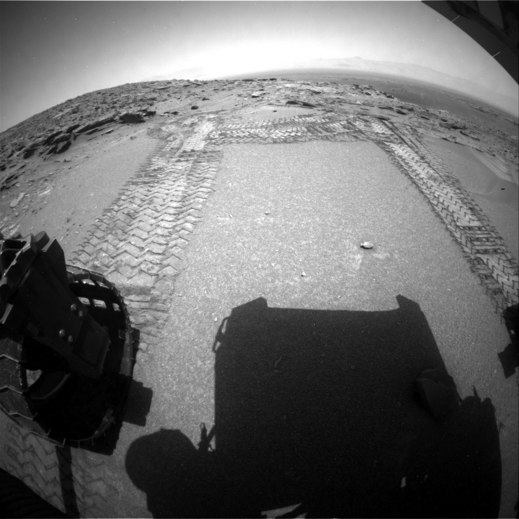 NASA's Mars rover Curiosity acquired this image using its Rear Hazard Avoidance Cameras (Rear Hazcams) on Sol 1047