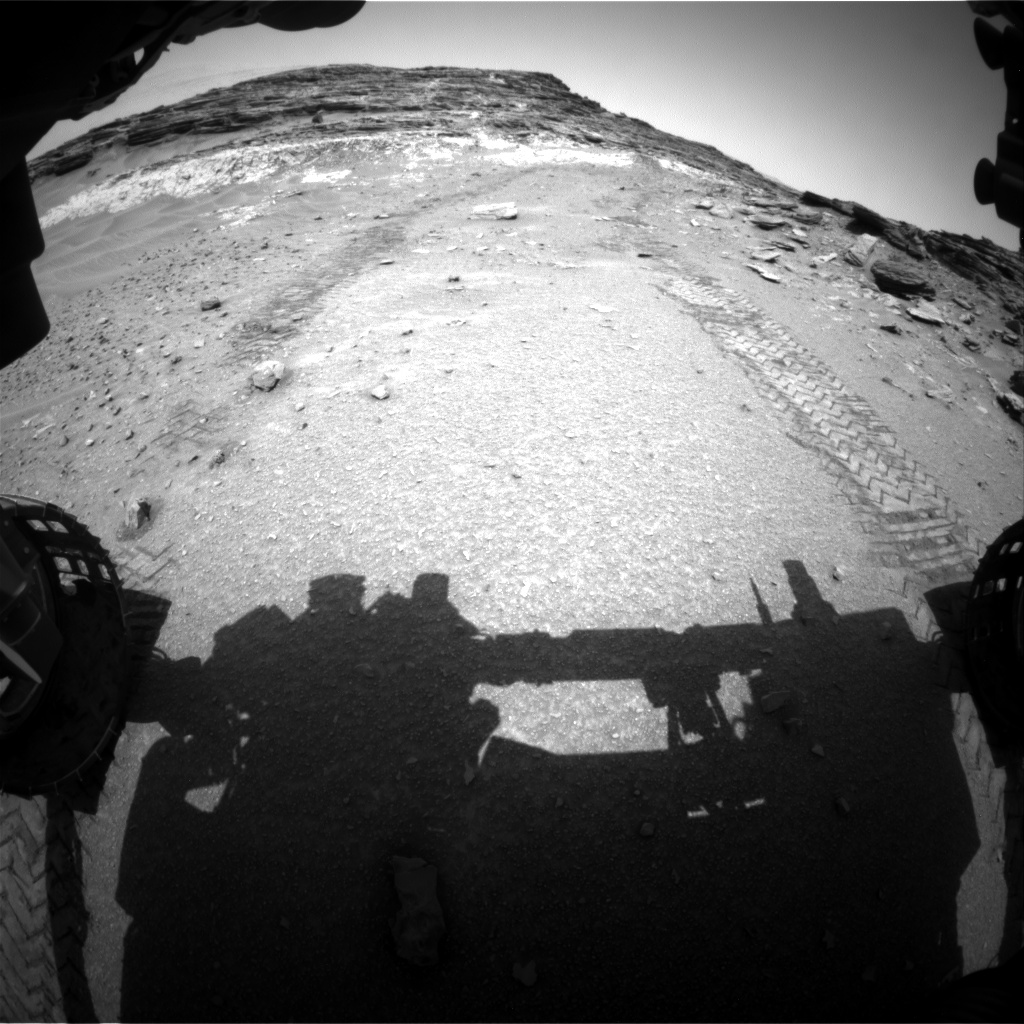 Nasa's Mars rover Curiosity acquired this image using its Front Hazard Avoidance Camera (Front Hazcam) on Sol 1049, at drive 2224, site number 48