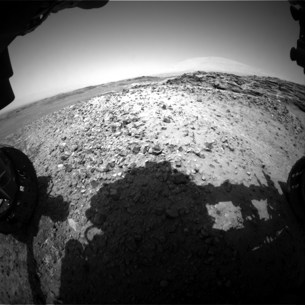 Nasa's Mars rover Curiosity acquired this image using its Front Hazard Avoidance Camera (Front Hazcam) on Sol 1049, at drive 2422, site number 48