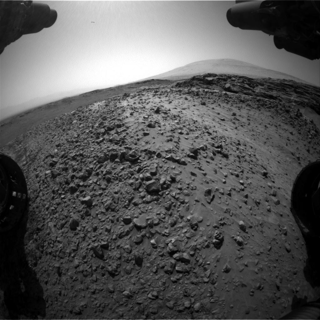 Nasa's Mars rover Curiosity acquired this image using its Front Hazard Avoidance Camera (Front Hazcam) on Sol 1050, at drive 2422, site number 48