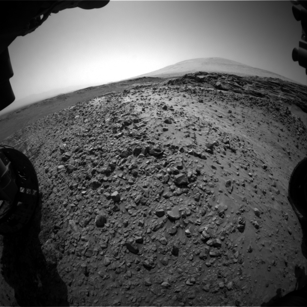 Nasa's Mars rover Curiosity acquired this image using its Front Hazard Avoidance Camera (Front Hazcam) on Sol 1051, at drive 2422, site number 48