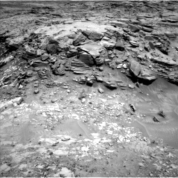 Nasa's Mars rover Curiosity acquired this image using its Left Navigation Camera on Sol 1051, at drive 2470, site number 48