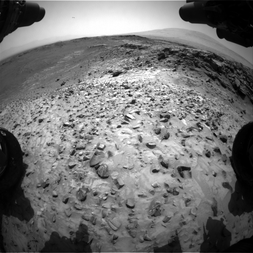 Nasa's Mars rover Curiosity acquired this image using its Front Hazard Avoidance Camera (Front Hazcam) on Sol 1052, at drive 2470, site number 48