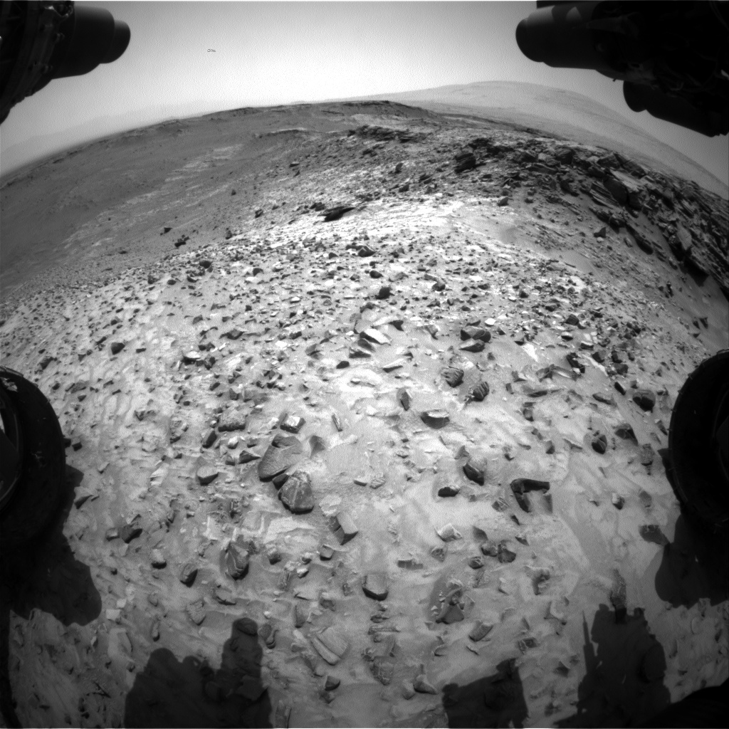 Nasa's Mars rover Curiosity acquired this image using its Front Hazard Avoidance Camera (Front Hazcam) on Sol 1053, at drive 2470, site number 48