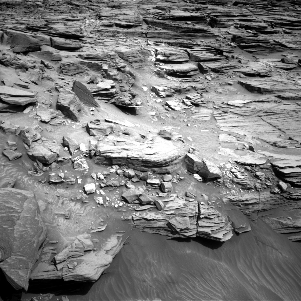 Nasa's Mars rover Curiosity acquired this image using its Right Navigation Camera on Sol 1053, at drive 2518, site number 48
