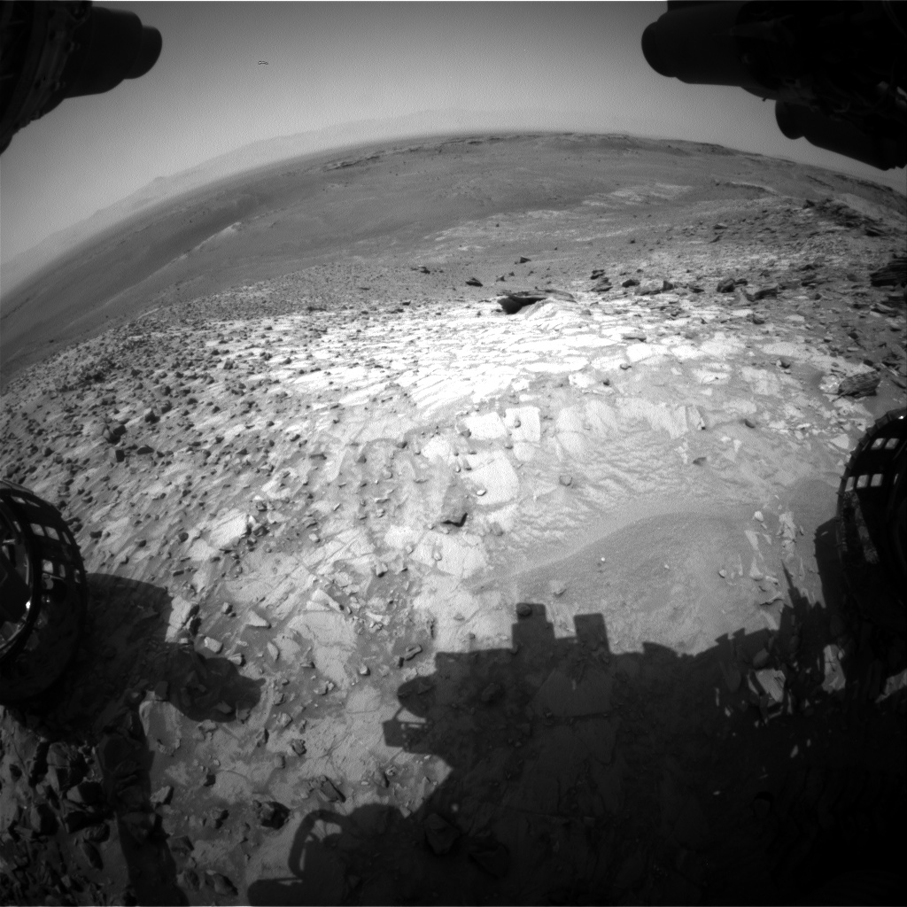 Nasa's Mars rover Curiosity acquired this image using its Front Hazard Avoidance Camera (Front Hazcam) on Sol 1056, at drive 2542, site number 48