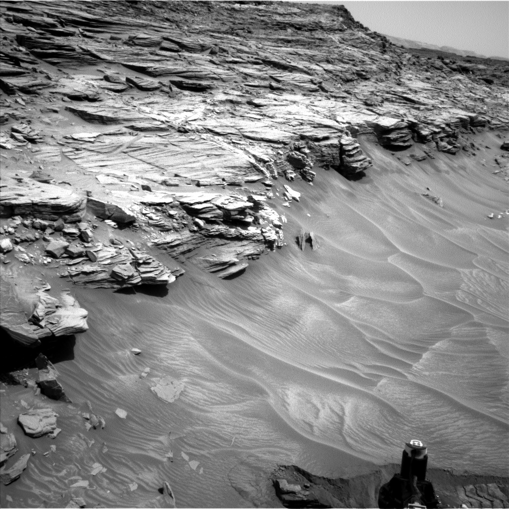 Nasa's Mars rover Curiosity acquired this image using its Left Navigation Camera on Sol 1056, at drive 2542, site number 48