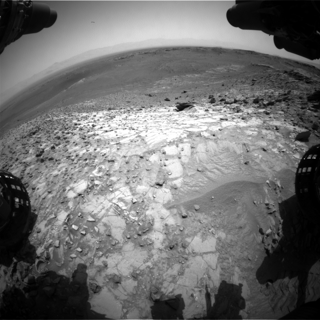 Nasa's Mars rover Curiosity acquired this image using its Front Hazard Avoidance Camera (Front Hazcam) on Sol 1057, at drive 2542, site number 48