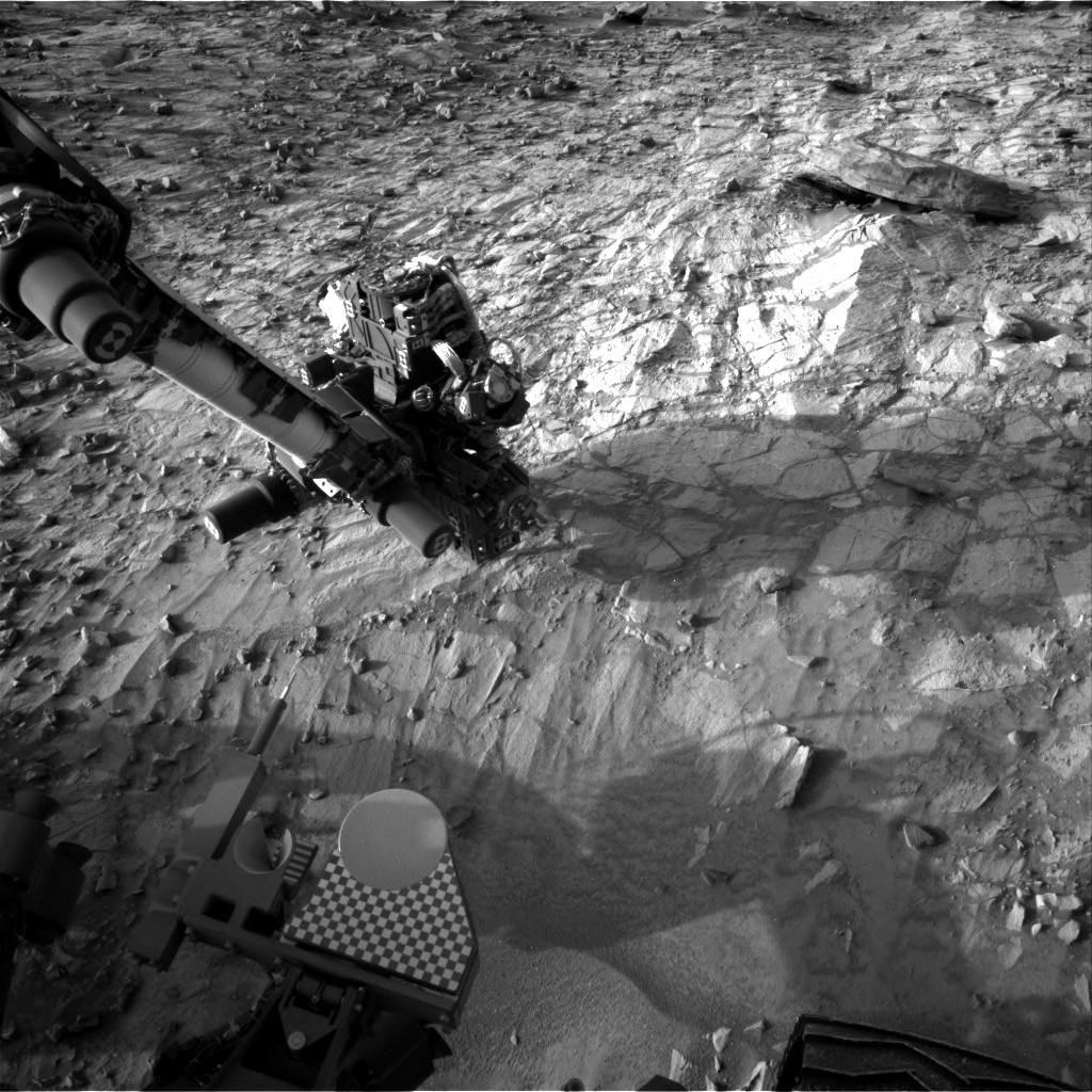 NASA's Mars rover Curiosity acquired this image using its Right Navigation Cameras (Navcams) on Sol 1057