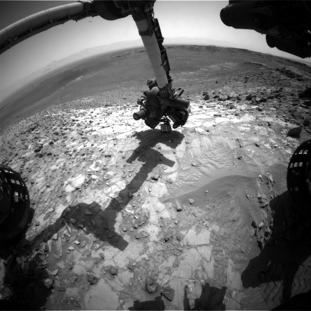 Nasa's Mars rover Curiosity acquired this image using its Front Hazard Avoidance Camera (Front Hazcam) on Sol 1058, at drive 2542, site number 48