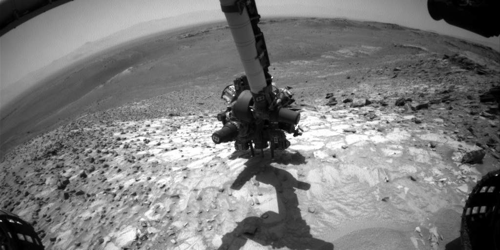 Nasa's Mars rover Curiosity acquired this image using its Front Hazard Avoidance Camera (Front Hazcam) on Sol 1059, at drive 2542, site number 48