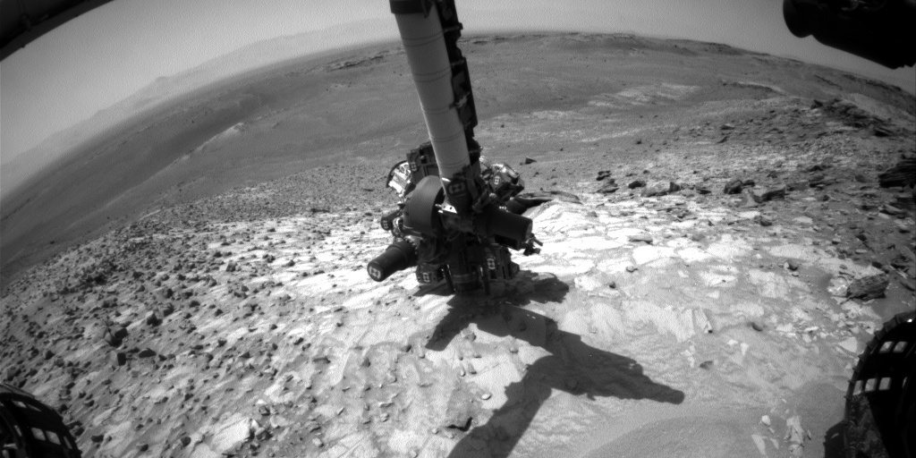 NASA's Mars rover Curiosity acquired this image using its Front Hazard Avoidance Cameras (Front Hazcams) on Sol 1060