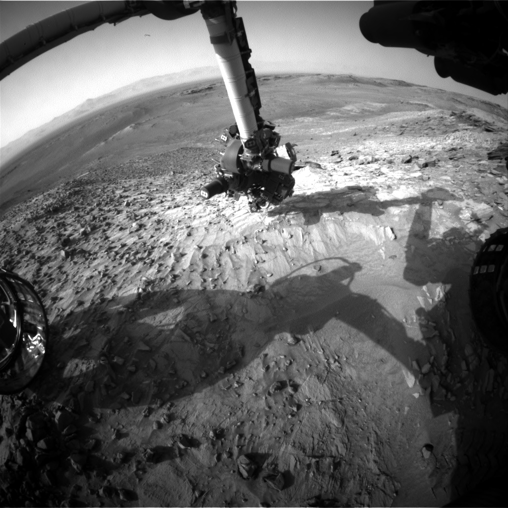 Nasa's Mars rover Curiosity acquired this image using its Front Hazard Avoidance Camera (Front Hazcam) on Sol 1060, at drive 2542, site number 48