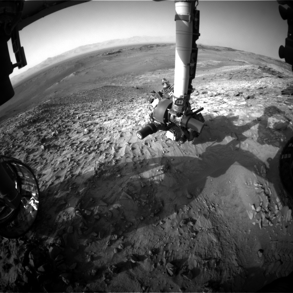 NASA's Mars rover Curiosity acquired this image using its Front Hazard Avoidance Cameras (Front Hazcams) on Sol 1061