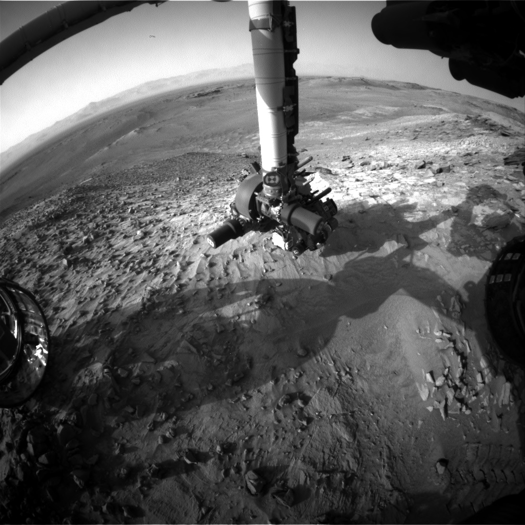 Nasa's Mars rover Curiosity acquired this image using its Front Hazard Avoidance Camera (Front Hazcam) on Sol 1061, at drive 2542, site number 48