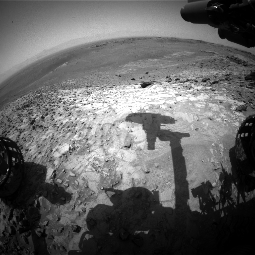Nasa's Mars rover Curiosity acquired this image using its Front Hazard Avoidance Camera (Front Hazcam) on Sol 1062, at drive 2542, site number 48