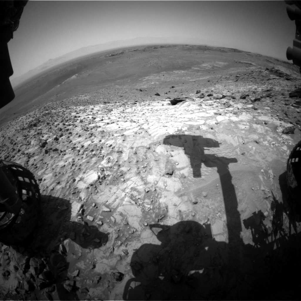 NASA's Mars rover Curiosity acquired this image using its Front Hazard Avoidance Cameras (Front Hazcams) on Sol 1063