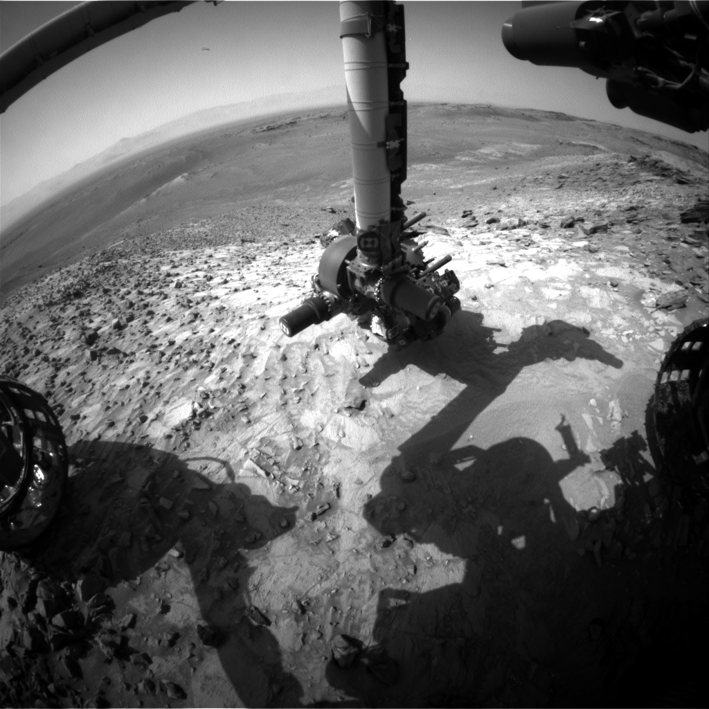 Nasa's Mars rover Curiosity acquired this image using its Front Hazard Avoidance Camera (Front Hazcam) on Sol 1065, at drive 2542, site number 48