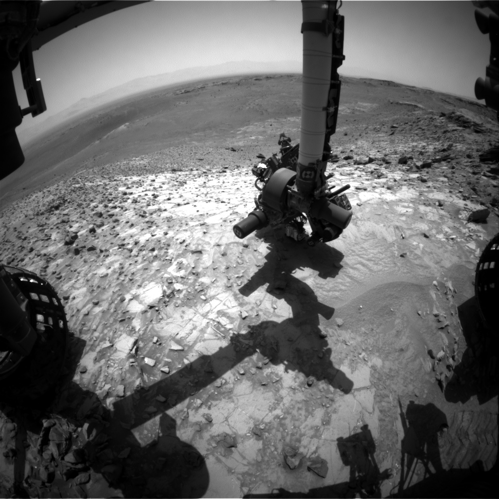 Nasa's Mars rover Curiosity acquired this image using its Front Hazard Avoidance Camera (Front Hazcam) on Sol 1066, at drive 2542, site number 48