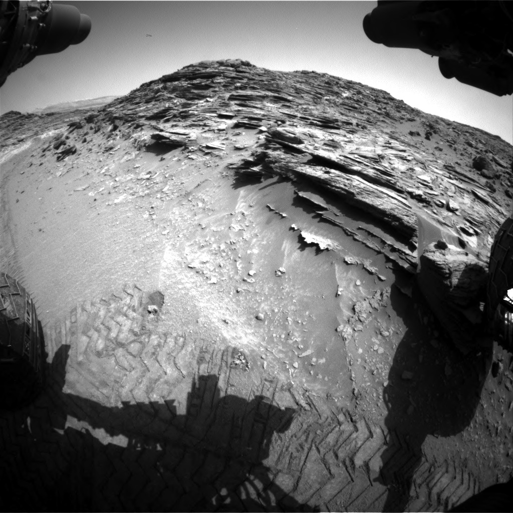 Nasa's Mars rover Curiosity acquired this image using its Front Hazard Avoidance Camera (Front Hazcam) on Sol 1066, at drive 2794, site number 48