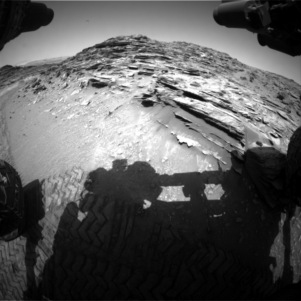 Nasa's Mars rover Curiosity acquired this image using its Front Hazard Avoidance Camera (Front Hazcam) on Sol 1067, at drive 2794, site number 48