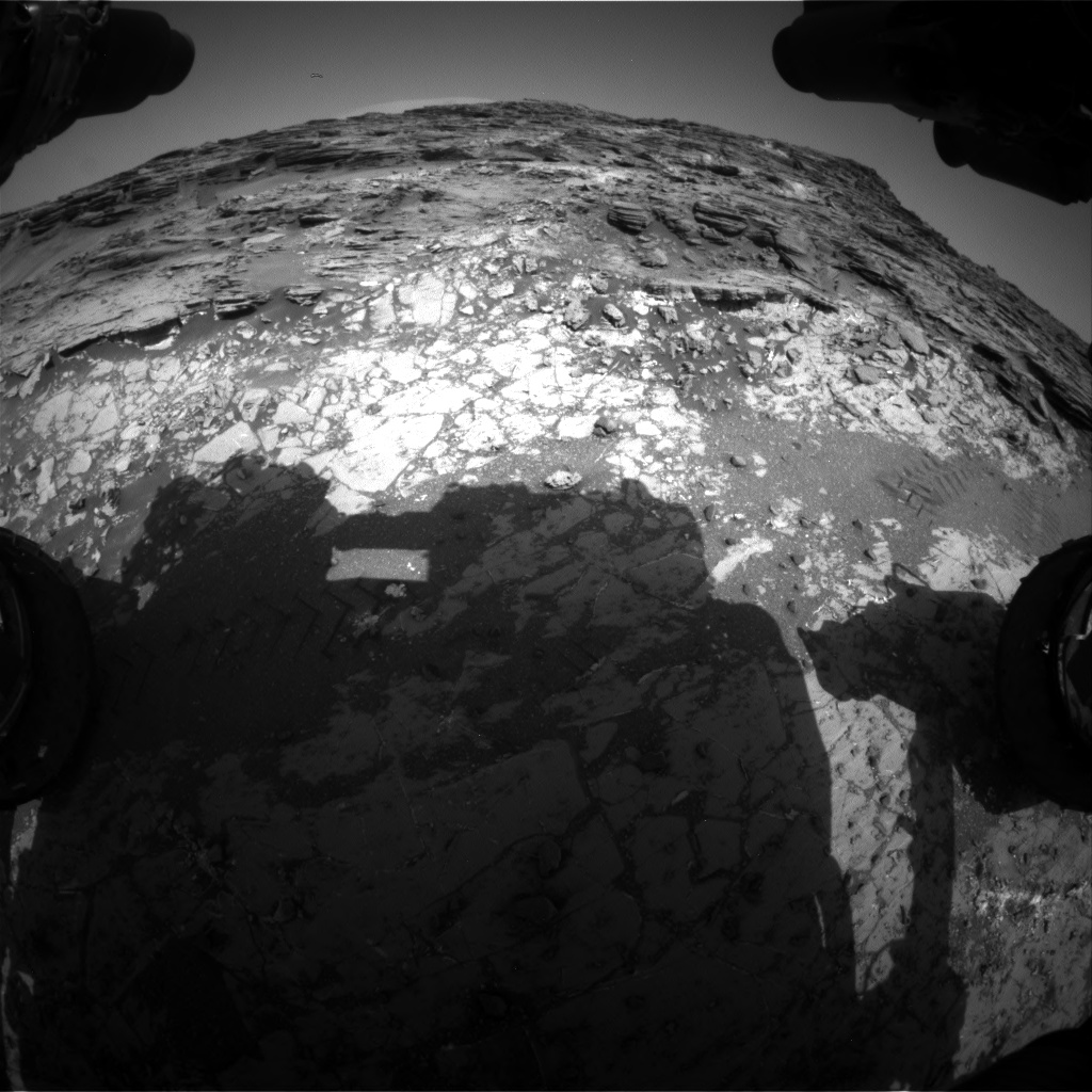 Nasa's Mars rover Curiosity acquired this image using its Front Hazard Avoidance Camera (Front Hazcam) on Sol 1067, at drive 0, site number 49