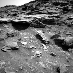 Nasa's Mars rover Curiosity acquired this image using its Left Navigation Camera on Sol 1067, at drive 2872, site number 48