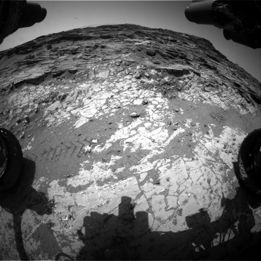 Nasa's Mars rover Curiosity acquired this image using its Front Hazard Avoidance Camera (Front Hazcam) on Sol 1071, at drive 0, site number 49