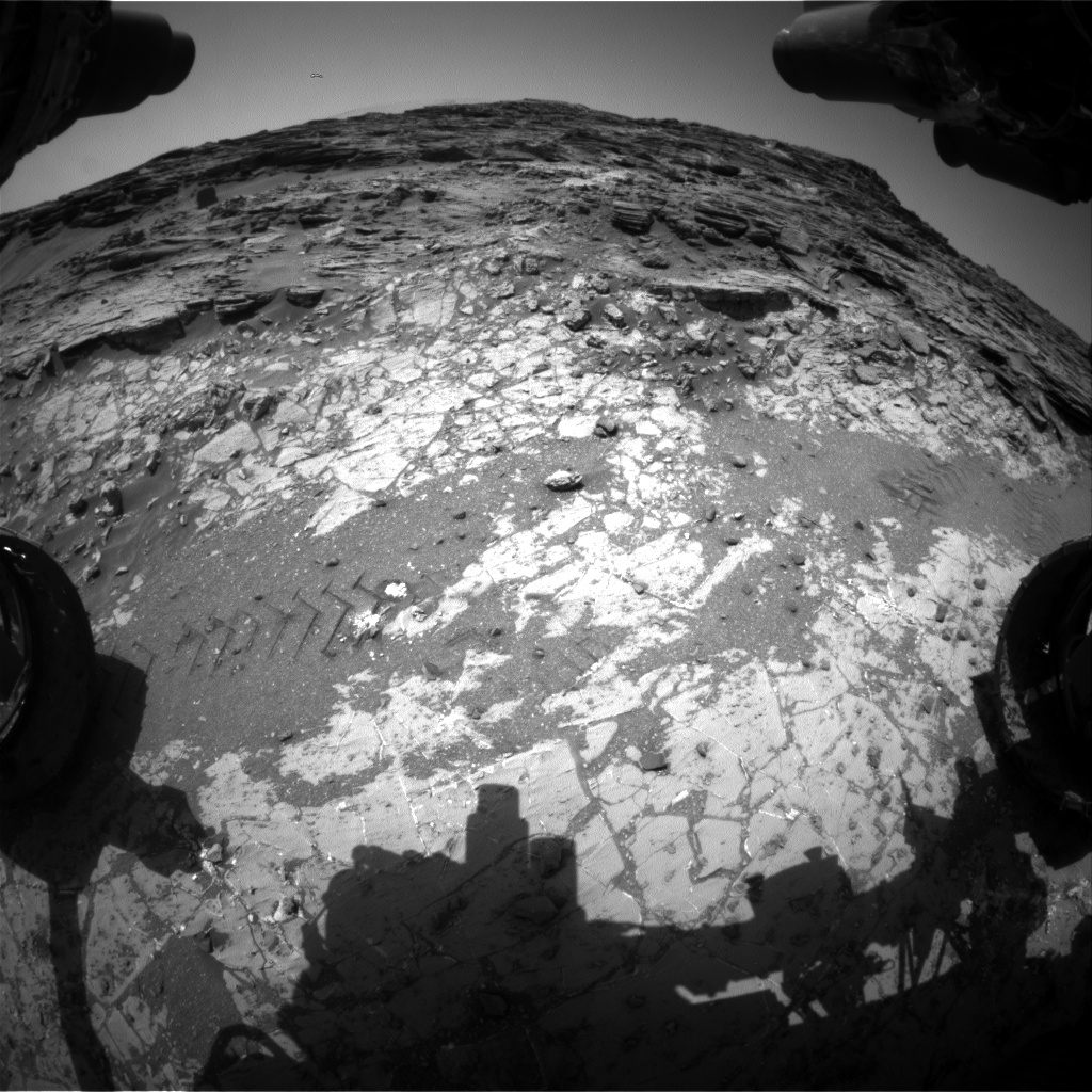 Nasa's Mars rover Curiosity acquired this image using its Front Hazard Avoidance Camera (Front Hazcam) on Sol 1072, at drive 0, site number 49