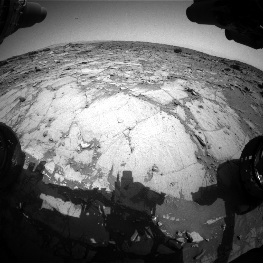 Nasa's Mars rover Curiosity acquired this image using its Front Hazard Avoidance Camera (Front Hazcam) on Sol 1072, at drive 294, site number 49