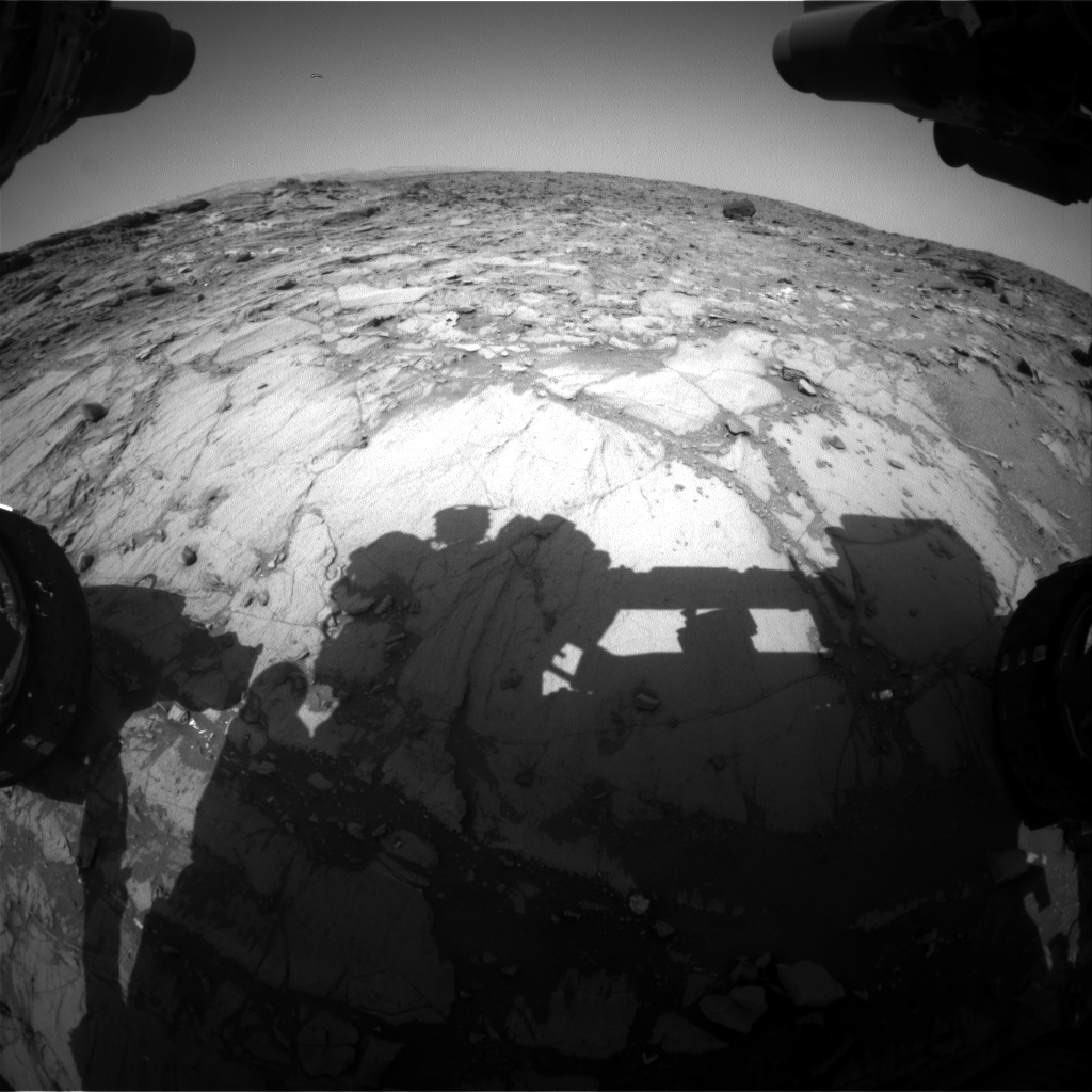 Nasa's Mars rover Curiosity acquired this image using its Front Hazard Avoidance Camera (Front Hazcam) on Sol 1073, at drive 294, site number 49