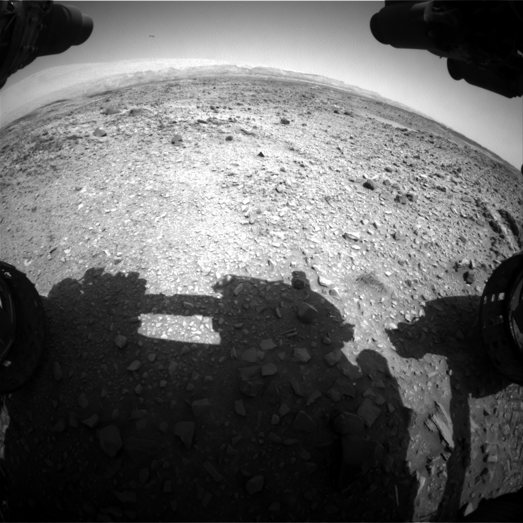 Nasa's Mars rover Curiosity acquired this image using its Front Hazard Avoidance Camera (Front Hazcam) on Sol 1073, at drive 642, site number 49