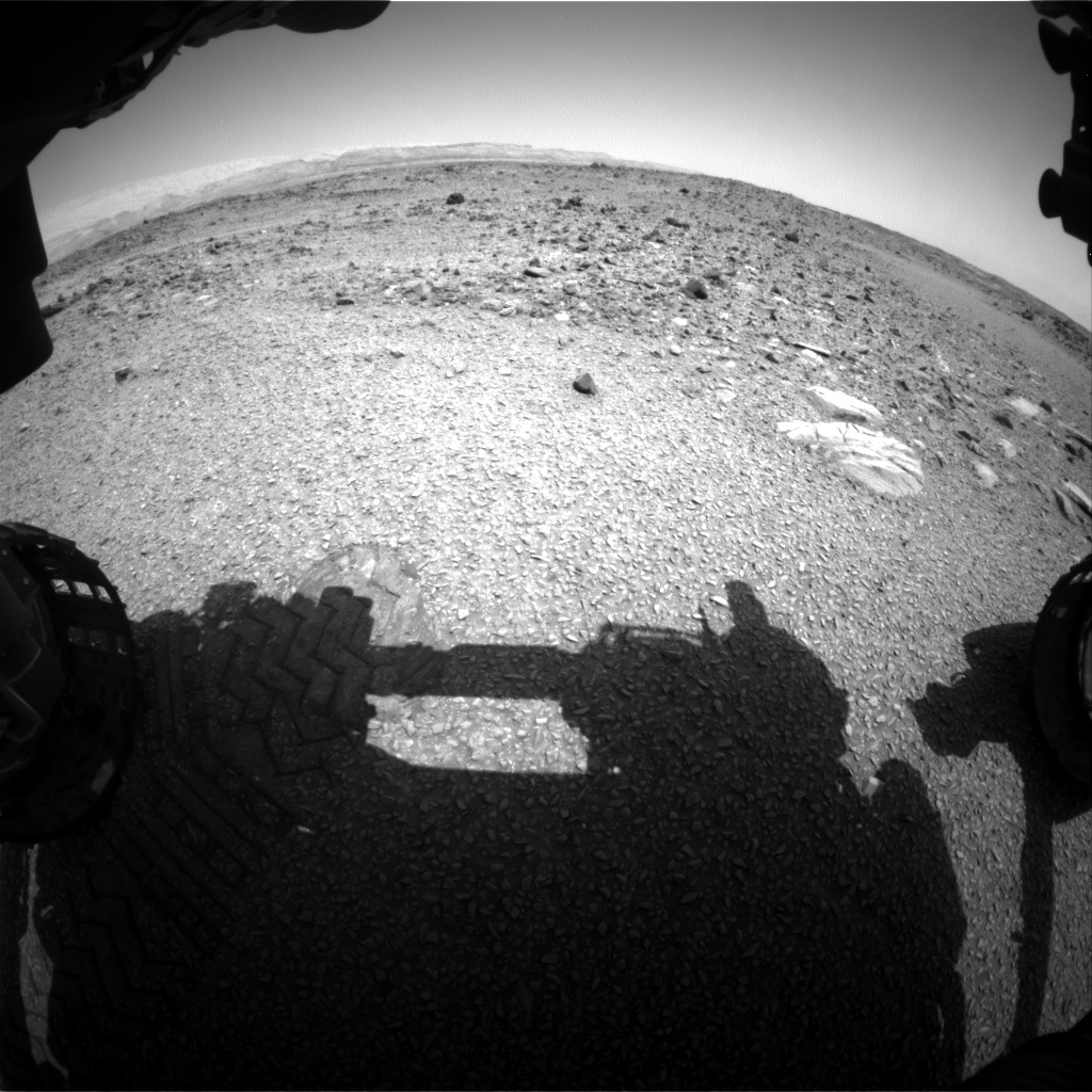 Nasa's Mars rover Curiosity acquired this image using its Front Hazard Avoidance Camera (Front Hazcam) on Sol 1074, at drive 814, site number 49