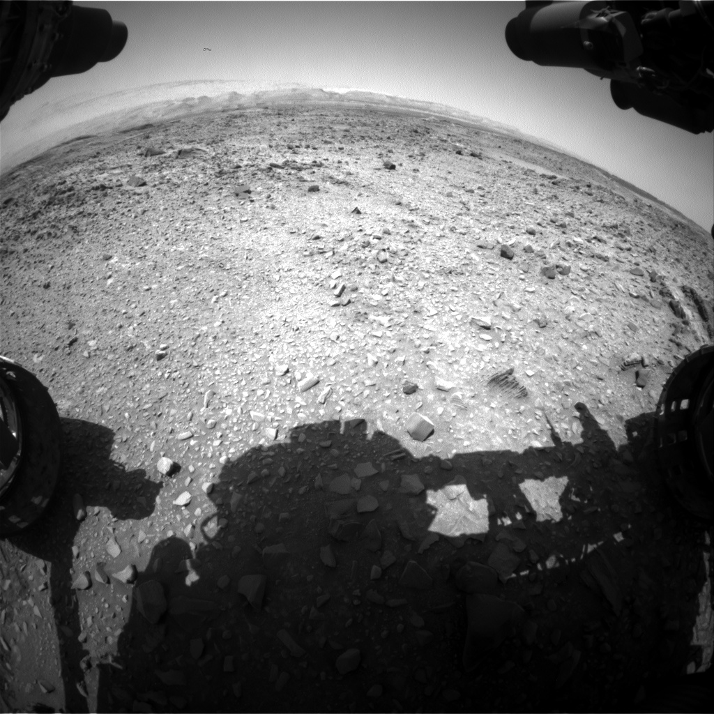 Nasa's Mars rover Curiosity acquired this image using its Front Hazard Avoidance Camera (Front Hazcam) on Sol 1074, at drive 642, site number 49