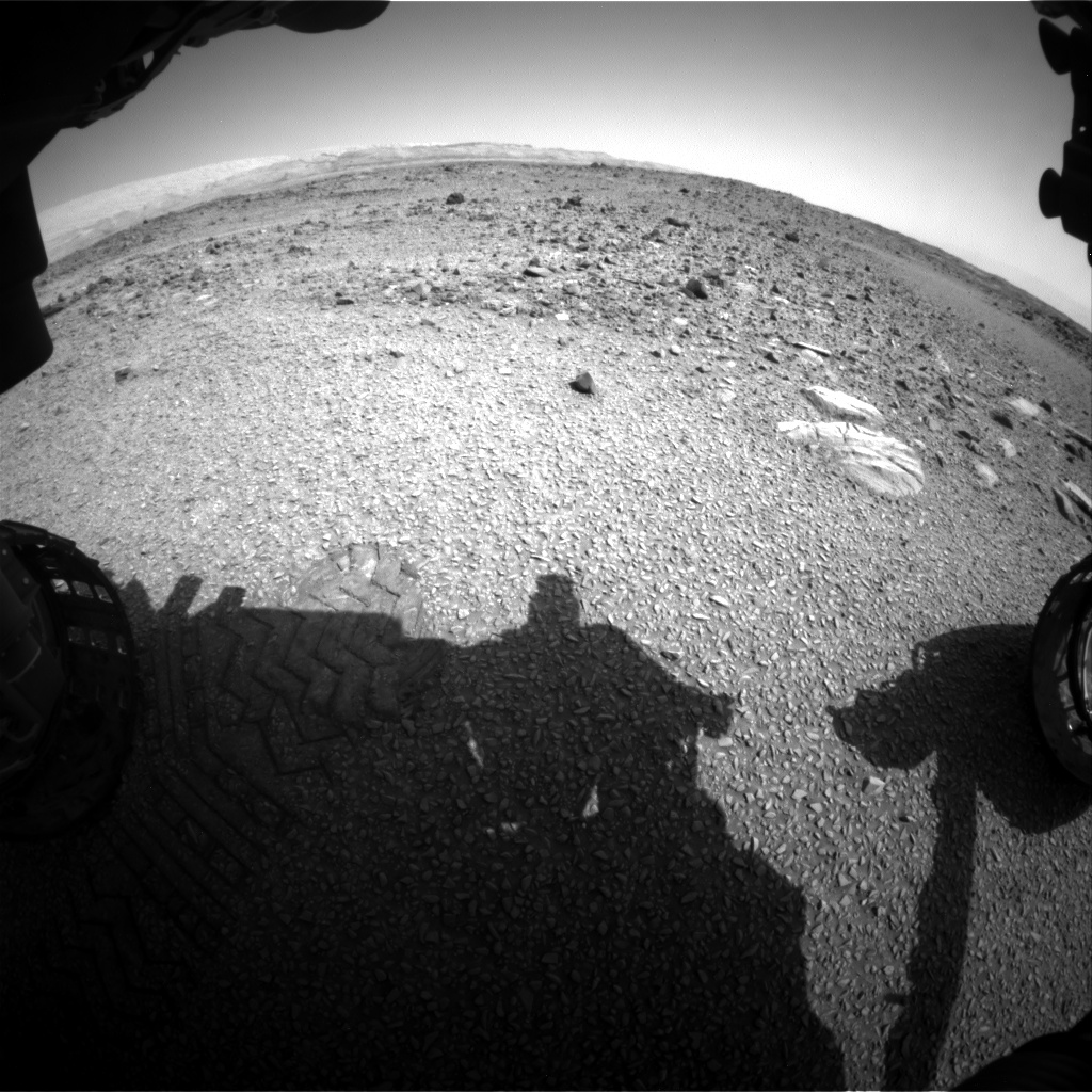 Nasa's Mars rover Curiosity acquired this image using its Front Hazard Avoidance Camera (Front Hazcam) on Sol 1075, at drive 814, site number 49