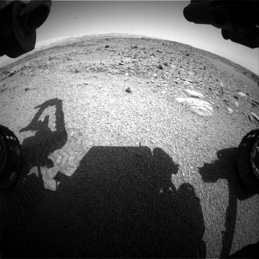 Nasa's Mars rover Curiosity acquired this image using its Front Hazard Avoidance Camera (Front Hazcam) on Sol 1076, at drive 814, site number 49