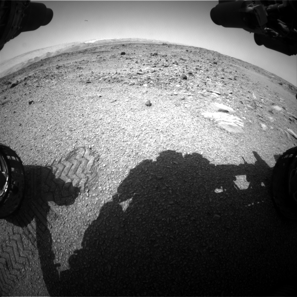 NASA's Mars rover Curiosity acquired this image using its Front Hazard Avoidance Cameras (Front Hazcams) on Sol 1077