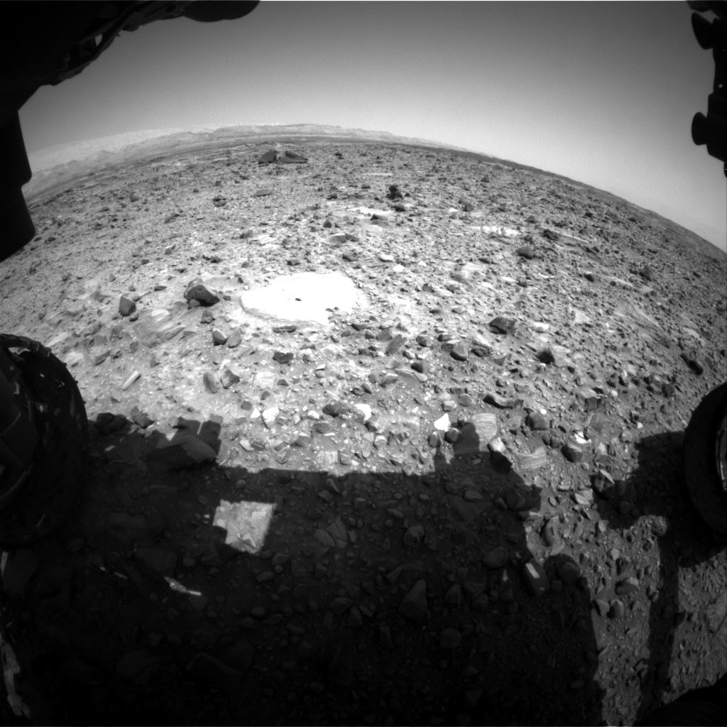 Nasa's Mars rover Curiosity acquired this image using its Front Hazard Avoidance Camera (Front Hazcam) on Sol 1078, at drive 1018, site number 49