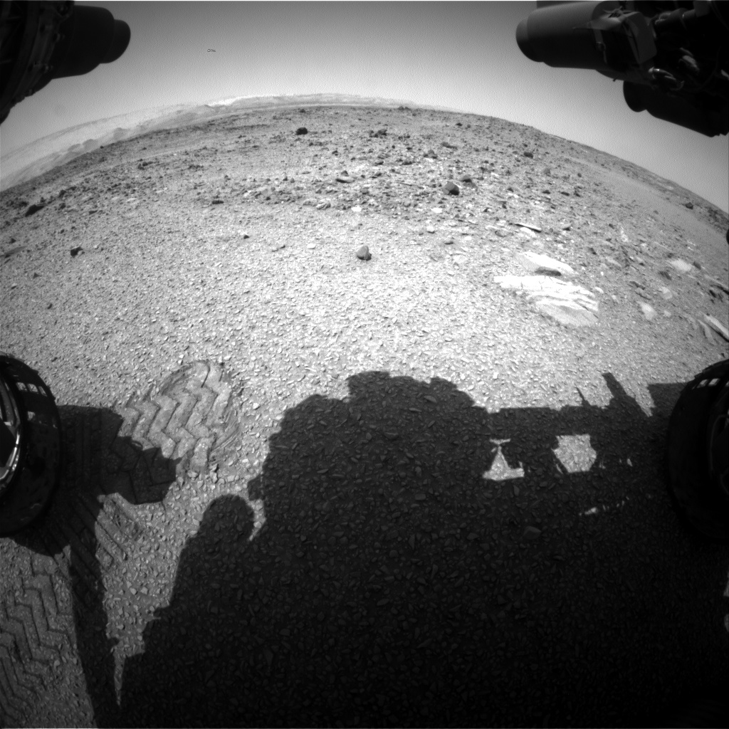 Nasa's Mars rover Curiosity acquired this image using its Front Hazard Avoidance Camera (Front Hazcam) on Sol 1078, at drive 814, site number 49