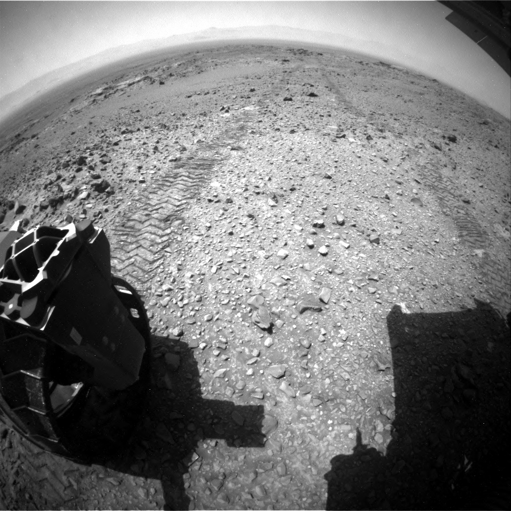 NASA's Mars rover Curiosity acquired this image using its Rear Hazard Avoidance Cameras (Rear Hazcams) on Sol 1078