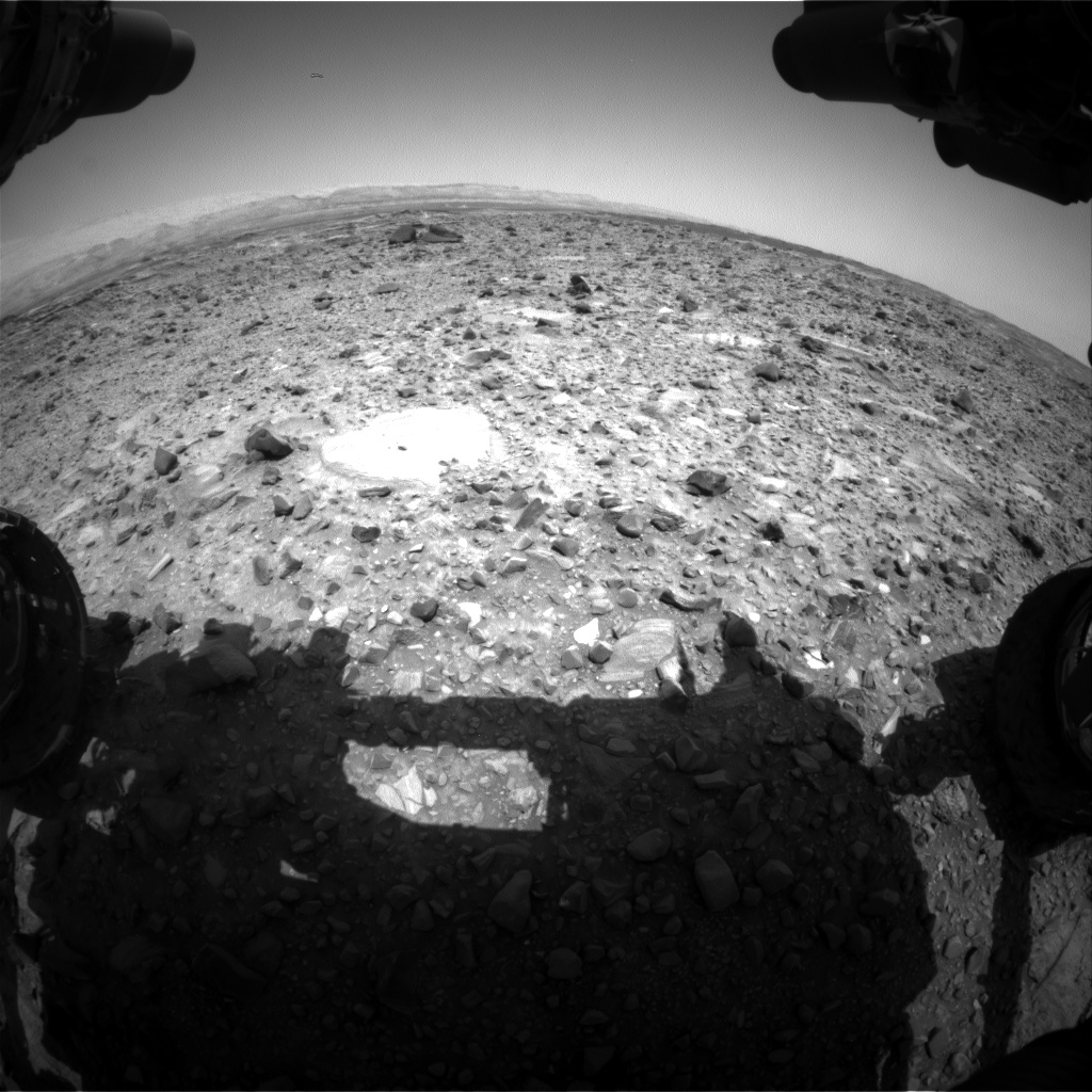 Nasa's Mars rover Curiosity acquired this image using its Front Hazard Avoidance Camera (Front Hazcam) on Sol 1079, at drive 1018, site number 49