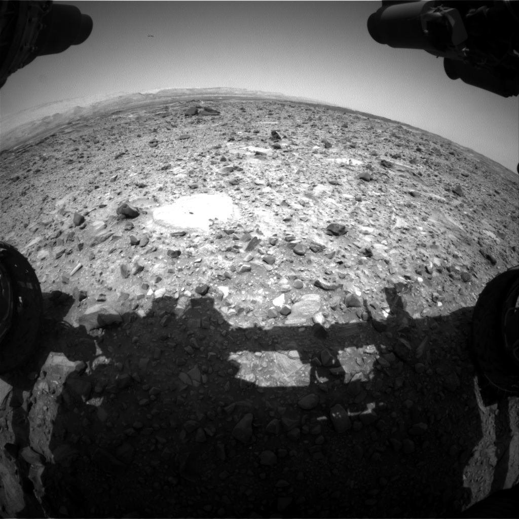 Nasa's Mars rover Curiosity acquired this image using its Front Hazard Avoidance Camera (Front Hazcam) on Sol 1080, at drive 1018, site number 49