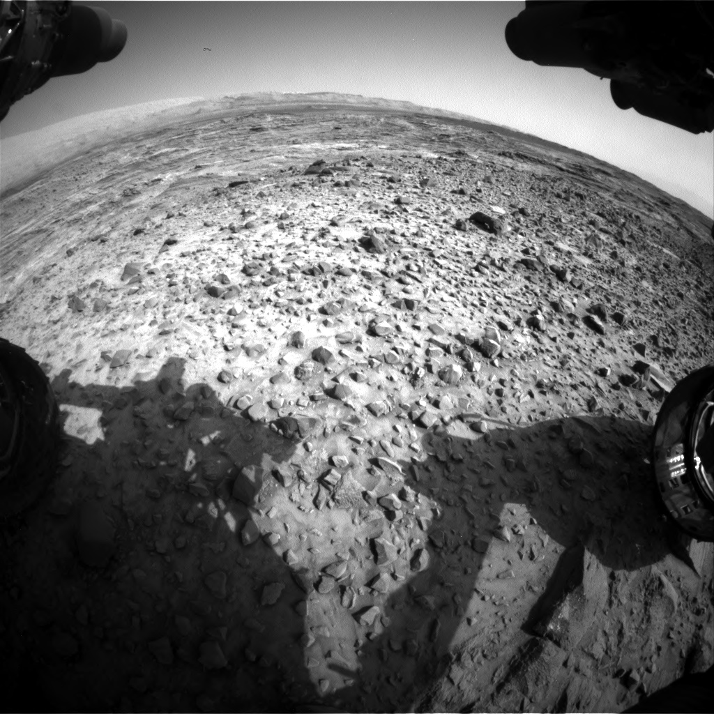 Nasa's Mars rover Curiosity acquired this image using its Front Hazard Avoidance Camera (Front Hazcam) on Sol 1080, at drive 1216, site number 49